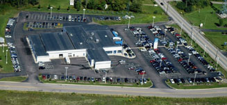 Sky view of Bianchi new and used car dealership
