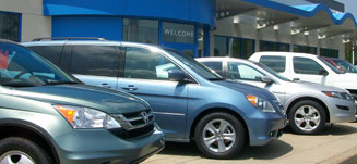 Honda Odyssey CRV and Accord Crosstour out front
