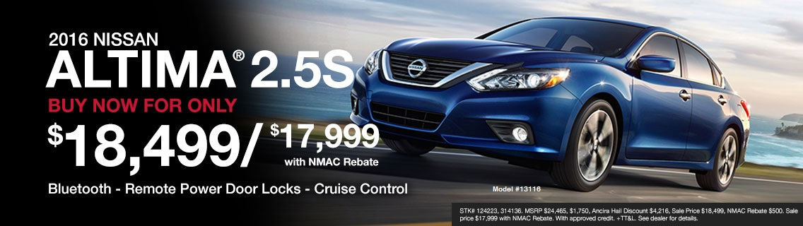 2016 Nissan Altima for sale at Ancira Nissan