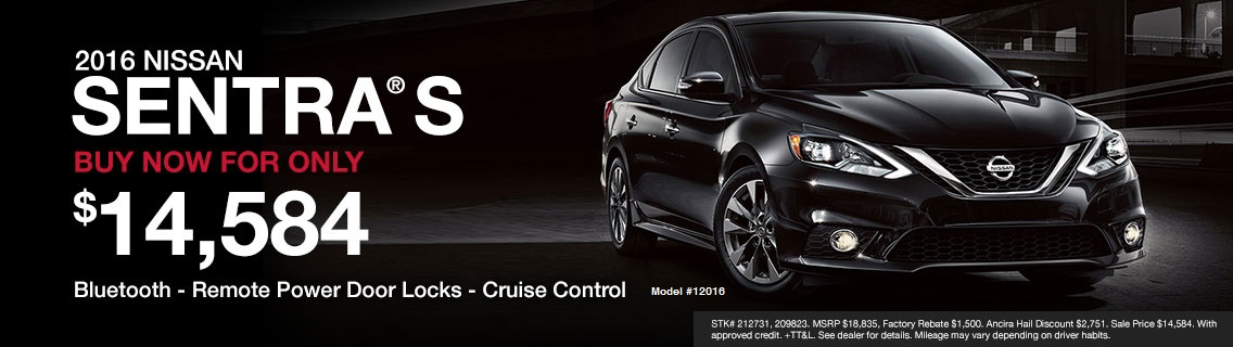 2016 Sentra S for sale at Ancira Nissan